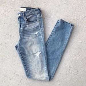 Hollister High Waisted Distressed Skinny Jeans